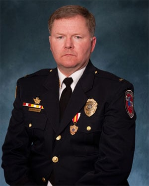 Oak Creek Police Lt. Brian Murphy was ambushed by a shooter at the Sikh Temple of Wisconsin. He is expected to survive. (Source: City of Oak Creek)