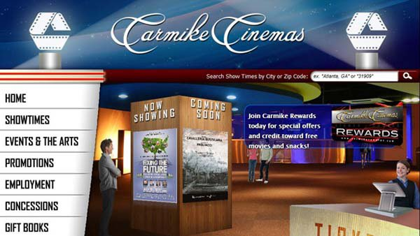© Carmike Cinemas across the U.S. were checked for bombs after a threat reported from the corporate office. (Source: carmike.com)