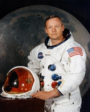 Neil Armstrong, the first man to set foot on the moon, died Saturday at the age of 82. (Source: NASA)