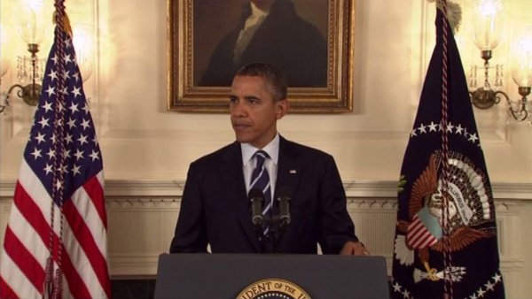 President Barack Obama gave a brief statement on preparations for Isaac on Tuesday. (Source: CNN)
