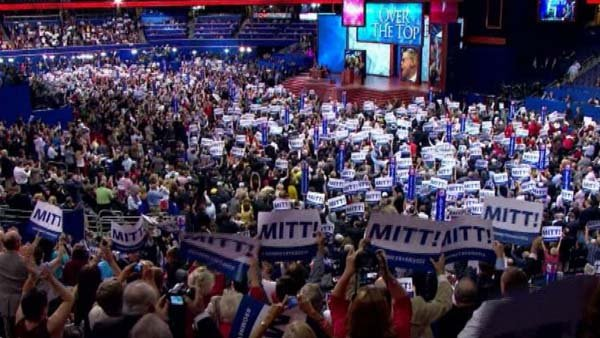 Romney received the official Republican nomination Tuesday evening in Tampa.