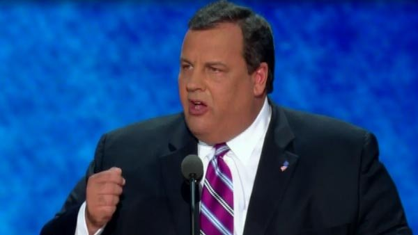 Gov. Chris Christie speaks at the Republican National Convention. (Source: CNN)