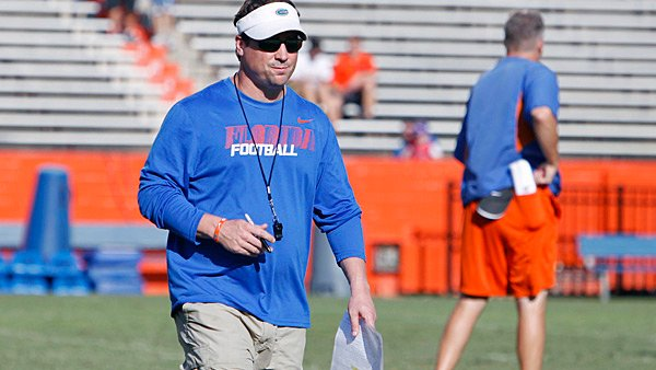 Coach Will Muschamp and the Gators enter the 2012 season with an interesting conundrum - who is QB1?  (Source: University of Florida)