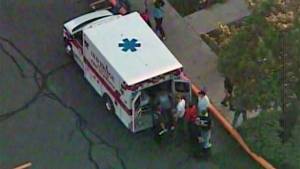 An emergency vehicle is loaded up after shots were fired at a New Jersey grocery store. (Source: WABC/CNN)