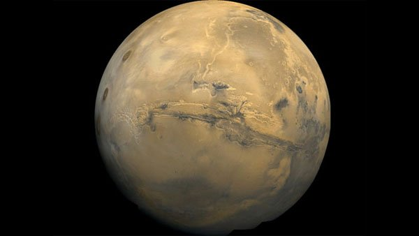 Photos show Valles Marineris, known was the Grand Canyon of Mars. (Source: Viking Project via NASA)