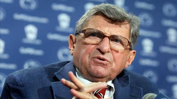 Former Penn State head football coach Joe Paterno died on Jan. 22, 2012. (Source: Joe Hermitt/The Patriot-News)