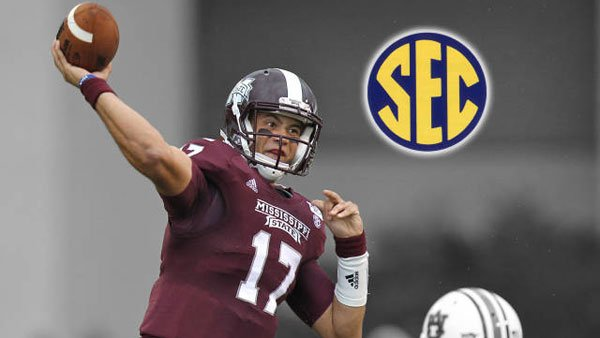 Tyler Russell finished 20-of-29 with 222 yards and three touchdowns vs. Auburn. (Courtesy: hailstate.com)