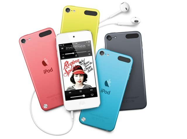 The new iPod Touch models will come in colors and with a wrist strap. (Source: Apple)