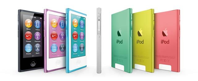 The redesigned iPod Nano's will have a larger screen and circular icons. (Source: Apple)
