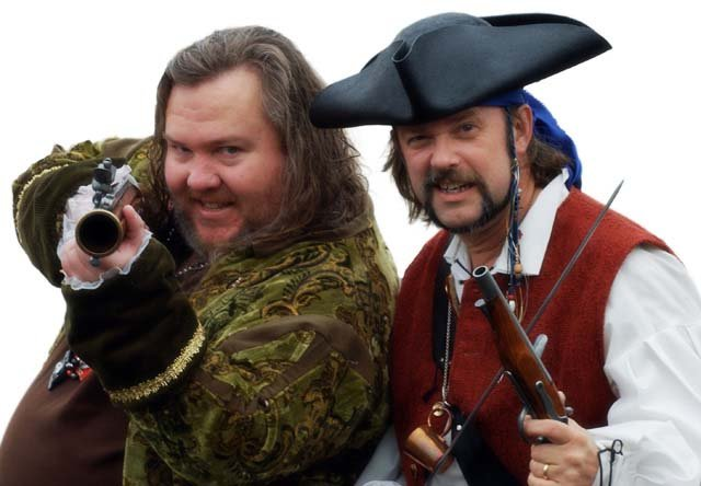 Mark Summers (Cap'n Slappy) and John Baur (Ol' Chumbucket) are the founders of Talk Like a Pirate Day.