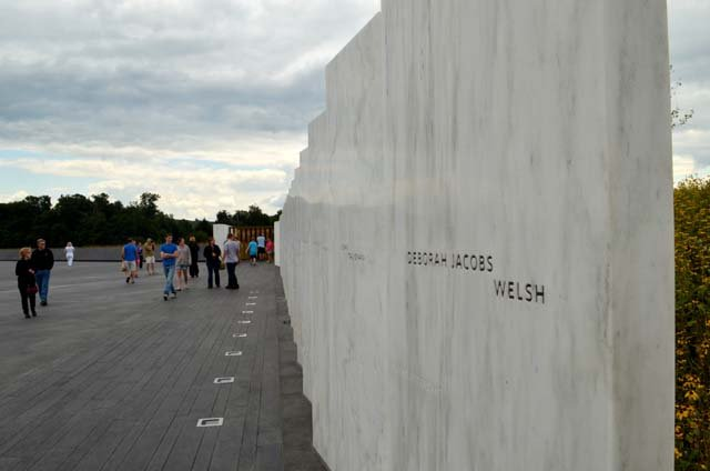 The Wall of Names at the Flight 93 Memorial in Shanksville, PA. (Source: National Park Service)