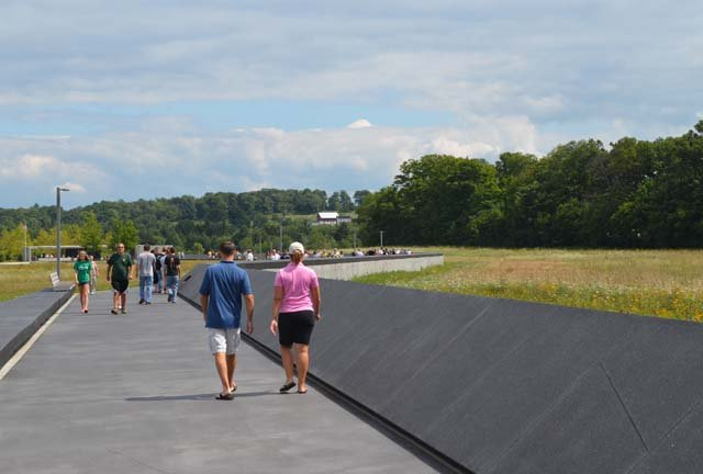 The Memorial Walk at the Flight 93 Memorial in Shanksville, PA. (Source: National Park Service)