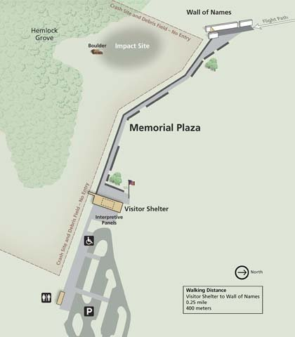 A map of the Flight 93 Memorial in Shanksville, PA. (Source: National Park Service)