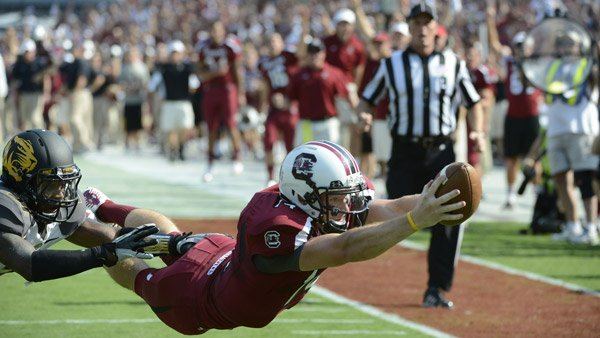 Connor Shaw has a near-perfect game against Mizzou on Saturday. (Source: South Carolina Athletics)