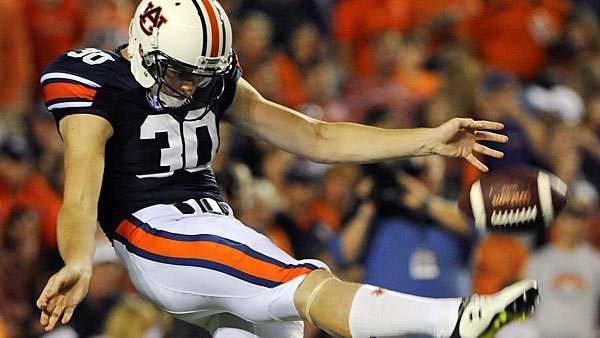 Auburn's Steven Clark and the entire class of SEC kickers get largely overlooked - that is, by everyone except for us. (Source: Todd Van Emst/Auburn University Athletics)