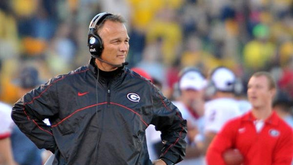 Mark Richt's Georgia Bulldogs face a challenge from a wounded but dangerous Tennessee team. (Source: Rob Saye/University of Georgia)