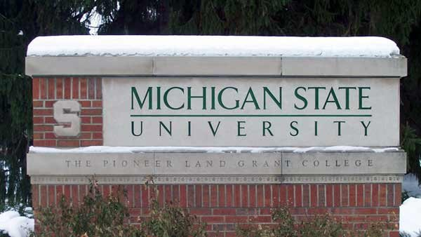 A professor at Michigan State University was taken to the hospital after the stripped naked in class during a mental breakdown. (Source: Lovelac7/Wikimedia)