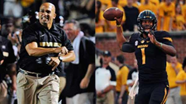 When the coach and the quarterback battle Saturday, more than their names are at stake. (Source: University of Missouri Athletics/Vanderbilt University Athletic