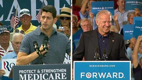 Rep. Paul Ryan, R-WI, and Vice President Joe Biden will face off in Danville, KY, Thursday to field questions on domestic and foreign policy. (Source: CNN)