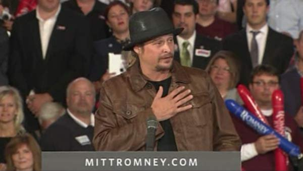 Kid Rock recently stumped for Mitt Romney and Paul Ryan. (Source: CNN)