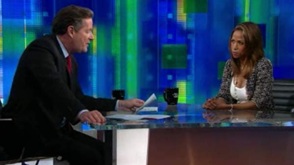 "Actress Stacey Dash appeared on CNN's ""Piers Morgan Tonight"" to respond to backlash over a recent tweet she sent in support of Mitt Romney.  (Source: CNN)"