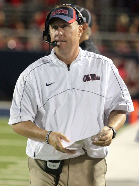 We read you loud and clear, coach Freeze. (Source: Joshua McCoy/Ole Miss A