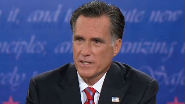 Republican presidential candidate Mitt Romney became the target of criticism online during the third debate. (Source: YouTube)