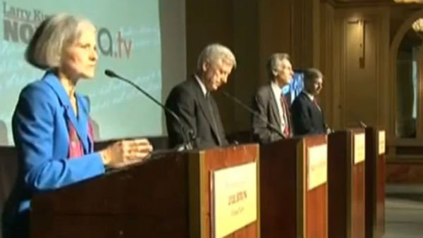 The third-party candidates debated Tuesday night in Chicago. (Source: RT/YouTube)