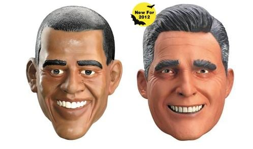 Spirit Halloween, a large seasonal retailer, has accurately predicted the winner of presidential elections by the number of candidates' masks sold.  (Source: Halloweenspirit.com)
