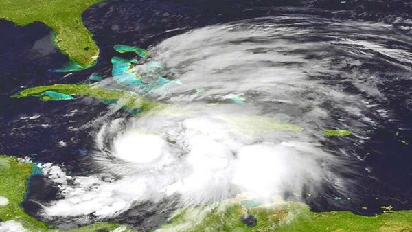 A satellite image shows Hurricane Sandy on Oct. 24 in the Caribbean. (Source: MGN/NOAA)