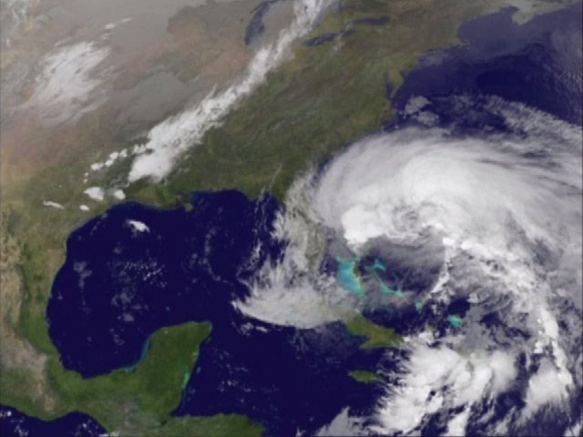 Satellite image of Sandy along the Eastern Seaboard of the U.S. (Source: NOAA/CNN)