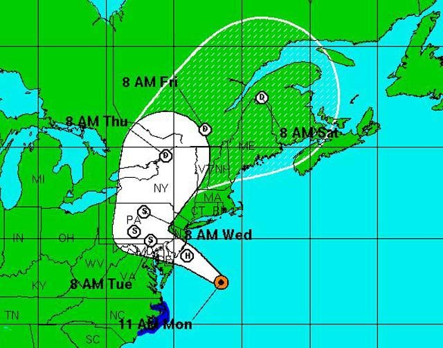 Hurricane Sandy is expected to affect some of the country's most populated cities. It is expected to make landfall near Atlantic City, NJ. (Source: NHC)