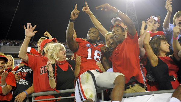 Baccari Rambo and the Bulldogs were living the good life last week, but their train to Atlanta could derail against Ole Miss. (Source: John Kelley/University of Georgia Athletics)