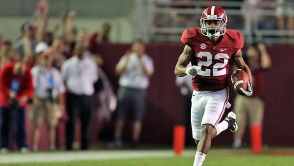 The playmaking ability of Christion Jones perfectly matches the personality of his team - they are capable of leaving all chasers in their dust. (Source: Alabama Athletics Communications)