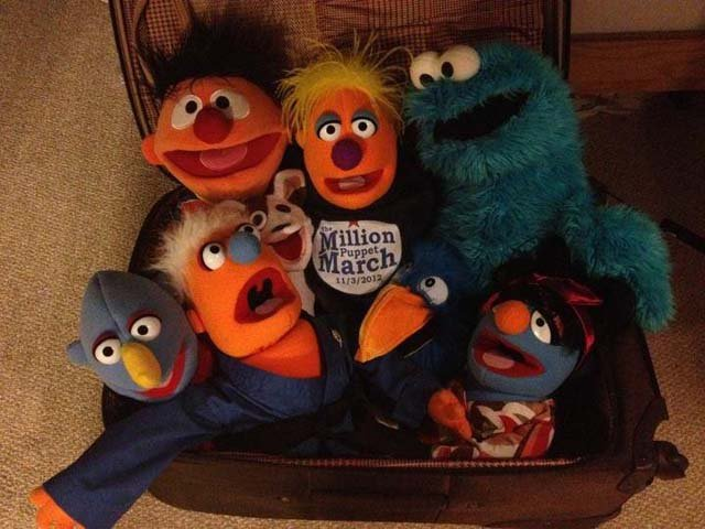 The TSA will have an eventful weekend checking luggage for those on their way to the Million Muppet March in Washington (Source: Million Muppet March/Facebook)