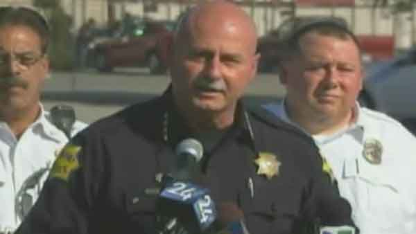 Fresno Police Chief Jerry Dyer spoke about the shooting that injured four and killed one at Apple Valley Farms plant. (Source: KFSN/CNN)