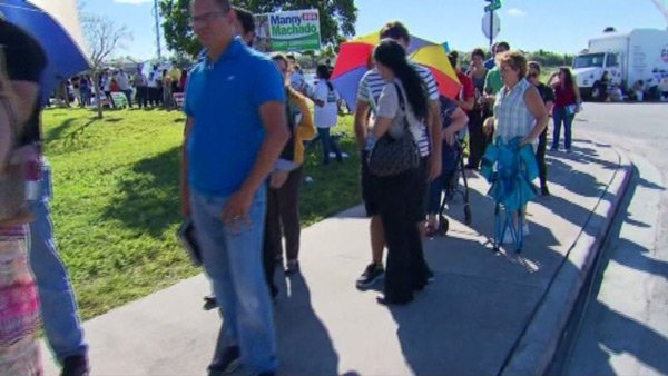 Lines of Florida voters wrapped around buildings and city blocks on Election Day, with some waiting hours to fill out a ballot. (Source: CNN)