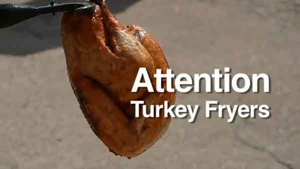 When deep frying a turkey, make sure you do it as safely as possible. (Source: YouTube)