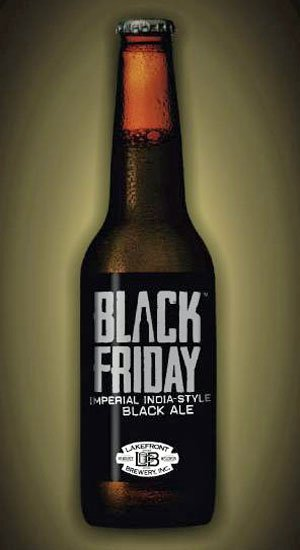 "Lakefront Brewery in Milwaukee is offering this special imperial India-style black ale called ""Black Friday"" for a one-day-only sale. (Source: Lakefront Brewery)"