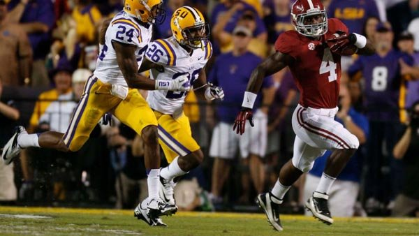 Alabama freshman T.J. Yeldon saved the day wit