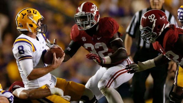 Alabama LB C.J. Mosley has been named an All-American, but he hasn't started every game for the Tide, which uses different combinations of linebackers based on the defense. (Source: Alabama Athletic Communications)