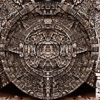 This is a big old stone thing with stuff carved on it by Mayans many years ago in the Yucatan peninsula. (Source: Wikimedia Commons)