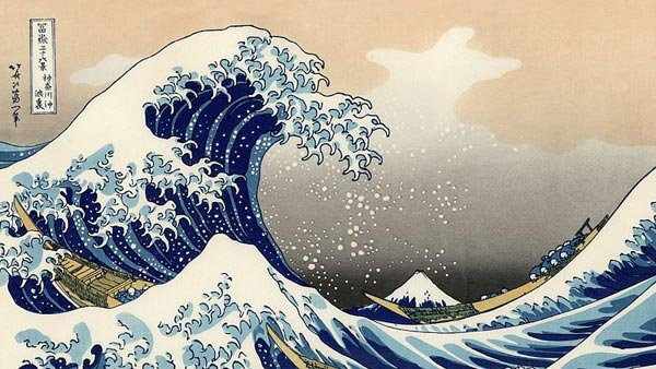 This is the most awesome painting of a tsunami ever, done by some Japanese guy like 200 years ago or something. There were no tsunamis to report now or in the recent past.(Source: Wikipedia)