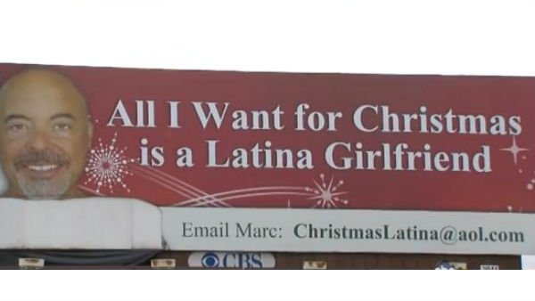 "The magazine Cosmopolitan for Latinas tweeted that Paskin's ad was ""The creepiest (and kind of hilarious) billboard about Latinas."" (Source: YouTube)"