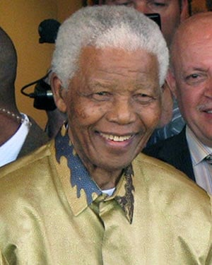 Nelson Mandela. (Source: Wiki Commons/Connormah)