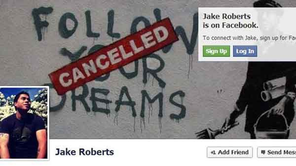 The cover of shooter Jacob Tyler Roberts Facebook page. (Source: Facebook)