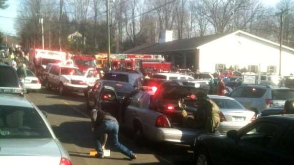 The shooting was reported around 9:41 a.m. ET. (Source: WFSB)