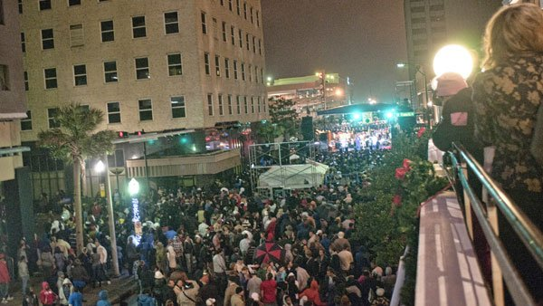 Downtown Mobile will have stages set up in various areas as the streets fill with Mardi Gras style parties. (Source: Tad Denson/Myshots.com)