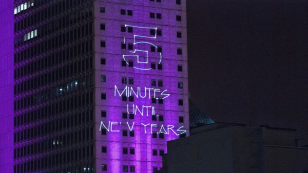 The main countdown is reflected from the RSA BankTrust building, the same place the MoonPie is dropped. (Source: Tad Denson/Myshots.com)