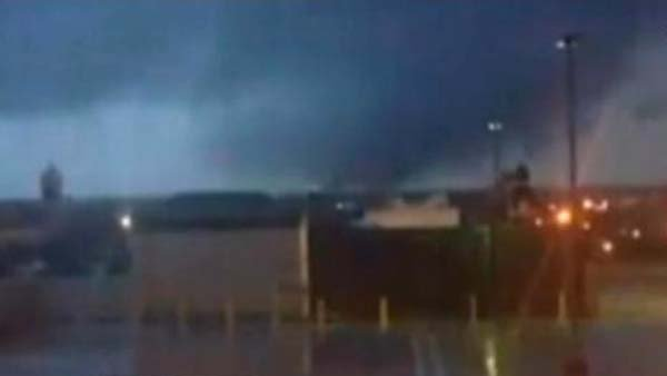 A large tornado reportedly hit Mobile, AL. (Source: WALA)